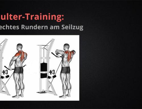 Schulter-Training:  aufrechtes Rudern am Seilzug
