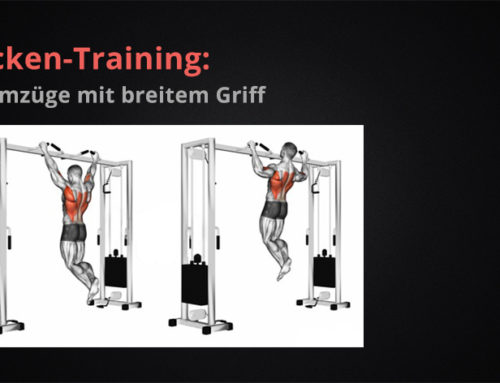Rücken-Training: Klimmzüge mit breitem Griff